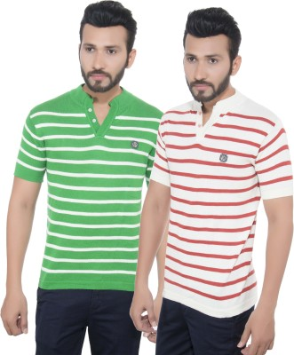 GreyBooze Striped Men's Henley T-Shirt