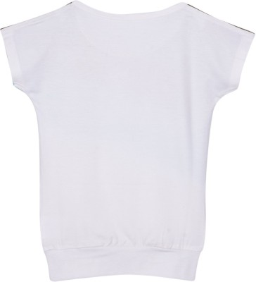 Mom & Me Printed Baby Girl's Round Neck Multicolor T-Shirt