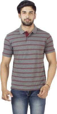 Petroficio Striped Men's Polo Neck T-Shirt
