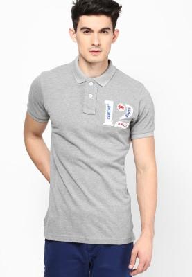 Camino Solid Men's Polo Grey T-Shirt