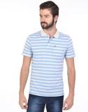 Klub Fox Striped Men's Polo Neck Blue T-...