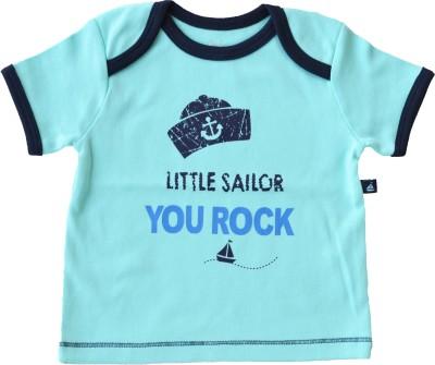 Babeez Printed Baby Boy's Round Neck Blue T-Shirt