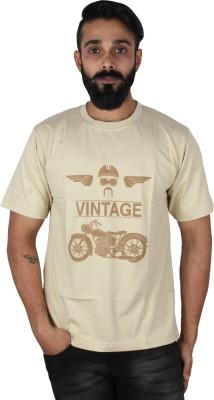 Pickled Merchandise Graphic Print Men's Round Neck Beige T-Shirt