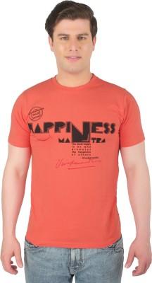Vivekananda Youth Connect Printed Men's Round Neck Orange T-Shirt