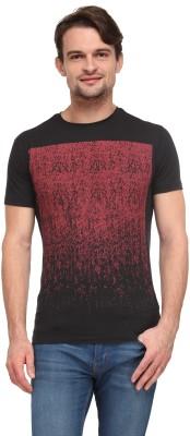 Flippd Graphic Print Men's Round Neck Black T-Shirt