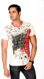 Zeroline Printed Men's V-neck Multicolor...