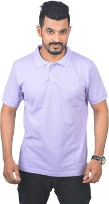 Woodside Solid Men's Polo Purple T-Shirt