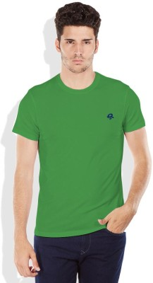 Difference of Opinion Solid Men's Round Neck Green T-Shirt