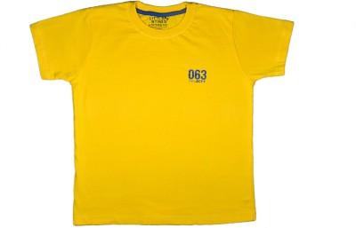 Little Star Solid Boy's Round Neck Yellow T-Shirt