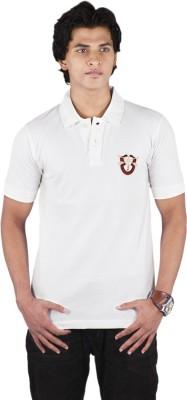 Bib & Tucker Solid Men's Polo Neck White T-Shirt