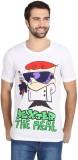 Dexter Graphic Print Men's Round Neck Wh...