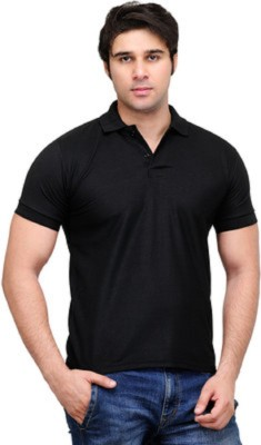 Vedika Collection Solid Men's Polo T-Shirt
