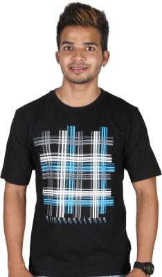 Tree Printed Men,s Round Neck T-Shirt