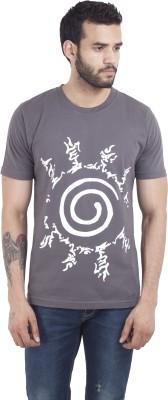 Iine Printed Mens Round Neck T-Shirt