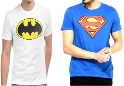 Sprat Graphic Print Men's Round Neck White, Blue T-Shirt