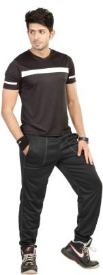Being Responsible Self Design Men's V-neck Black T-Shirt