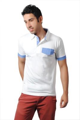 Brand Teez Solid Men's Polo White T-Shirt