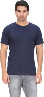 Indian Engineer Solid Men's Round Neck Dark Blue T-Shirt