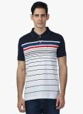 Seaboard Striped Men's Polo Neck Blue T-...