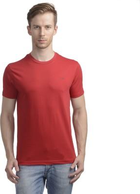 WRIG Solid Men's Round Neck Red T-Shirt