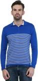 Kalt Striped Men's Polo Neck Blue, White...