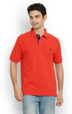 Thisrupt Solid Men's Polo Neck Red T-Shirt