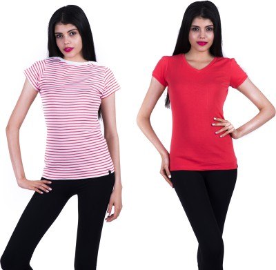 Juelle Solid Women's V-neck T-Shirt