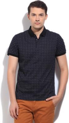 Arrow Newyork Printed Men's Polo Black T-Shirt