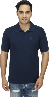 Zista Solid Men's Polo Dark Blue T-Shirt