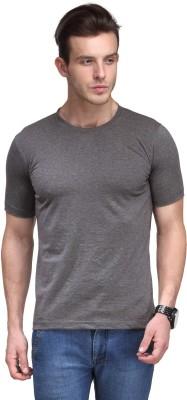Scott International Solid Men's Round Neck Grey T-Shirt