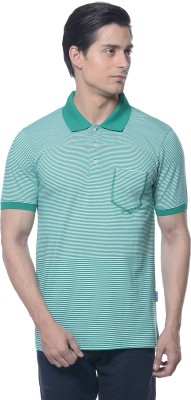 Carve Striped Men's Polo Neck Green T-Shirt