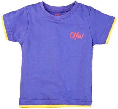 Oye Solid Baby Boy's Round Neck T-Shirt