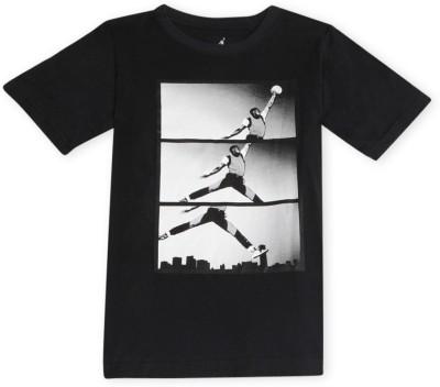 Jordan Kids Graphic Print Boy's Polo Black T-Shirt