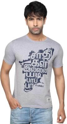 Tamizhanda Printed Men's Round Neck Grey T-Shirt