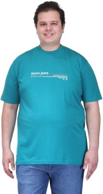 PlusS Solid Men's Round Neck Green T-Shirt
