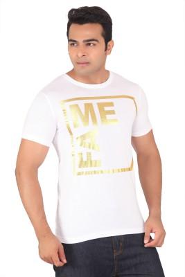 Radbone Printed Men's Round Neck White T-Shirt