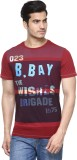 Be Pure Printed Men's Round Neck Maroon ...