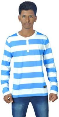 Smart Look 7 Striped Men's Henley Blue, White T-Shirt