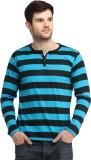 Bigidea Striped Men's Henley Blue, Black...