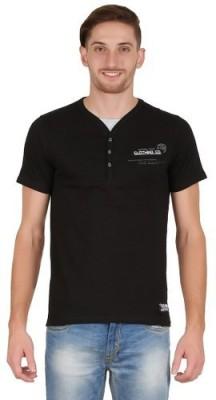 Hawk Knext Printed Men's V-neck Black T-Shirt
