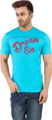 Spunk Printed Men's Round Neck Blue T-Shirt