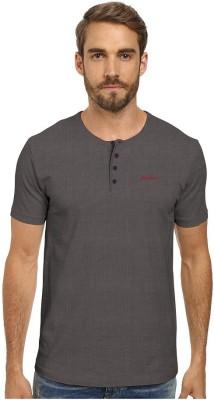 HD Hunter Douglas Solid Men's Henley Purple T-Shirt