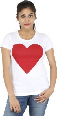 Mighty Mojo Graphic Print Women's Round Neck White T-Shirt