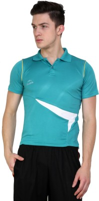 Dida Sportswear Striped Men's Polo Light Green T-Shirt