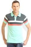 HW Striped Men's Round Neck Blue T-Shirt