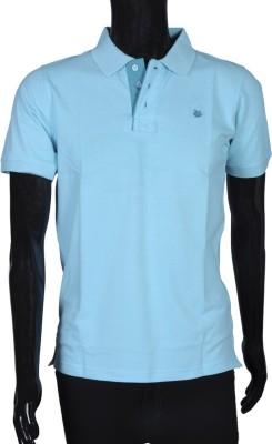 Bib & Tucker Solid Men's Polo Neck Blue T-Shirt