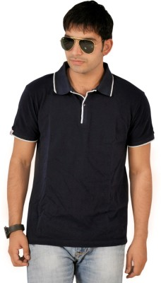 Sparkk Solid Men's Polo Neck T-Shirt