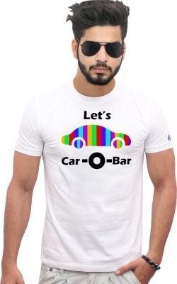 Jazzmyride Graphic Print Men's Round Neck White T-Shirt