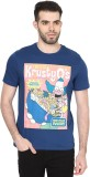 Celio Printed Men's Round Neck Blue T-Sh...