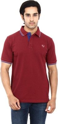Stackia Solid Men's Polo Maroon T-Shirt